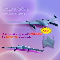 Small VTOL Drone Superbird Foldable UAV fuselage